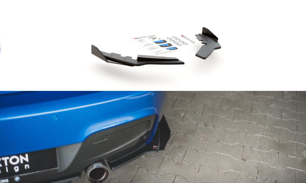 SPLITTERY TYLNE BOCZNE RACING DURABILITY + FLAPS BMW M135I F20 - GRUBYGARAGE - Sklep Tuningowy
